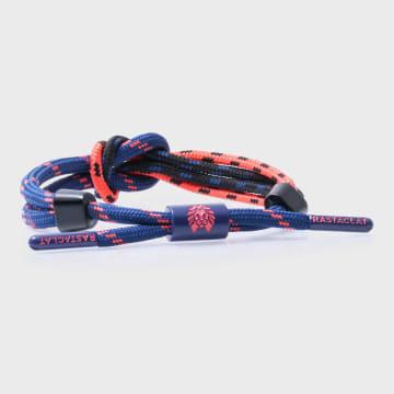 Rastaclat - Bracelet Duodess Bleu Marine Orange