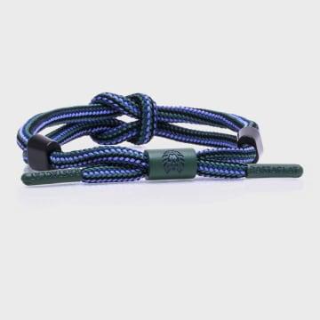 Rastaclat - Bracelet Andes Bleu Vert Kaki