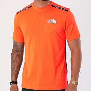 The North Face - Tee Shirt De Sport A5578 Orange Fluo