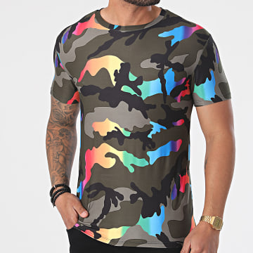 Uniplay - Tee Shirt UY607 Vert Kaki Camouflage