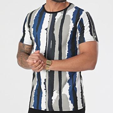 Uniplay - Tee Shirt T789 Blanc Noir Vert Kaki Bleu Marine