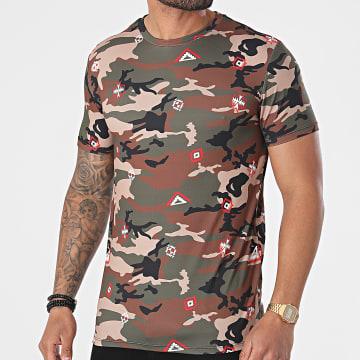 Uniplay - Tee Shirt UY625 Vert Kaki Beige Camouflage