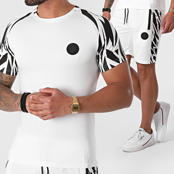 Zelys Paris - Ensemble Tee Shirt Short Jogging Josh Blanc Noir