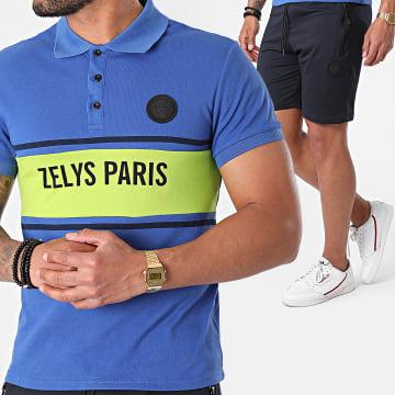 Zelys Paris - Ensemble Polo Short Jogging Djoko Bleu Marine