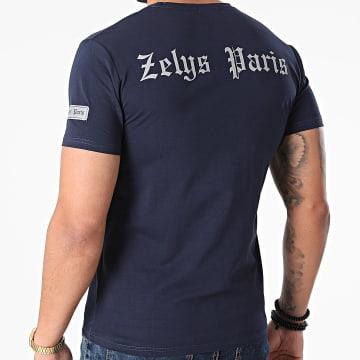 Zelys Paris - Tee Shirt Réfléchissant Yacht Bleu Marine