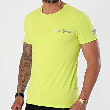 Zelys Paris - Tee Shirt Réfléchissant Yacht Vert Fluo