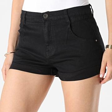 Girls Outfit - Short Jean Femme B982 Noir