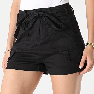 Girls Outfit - Short Jean Femme C9067 Noir