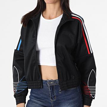 Adidas Originals - Veste Zippée Femme A Bandes GN2950 Noir