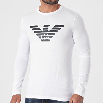 Emporio Armani - Tee Shirt Manches Longues 8N1T64-1JNQZ Blanc