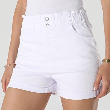 Girls Outfit - Short Jean Femme C9069 Blanc