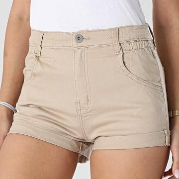 Girls Outfit - Short Jean Femme B982 Beige
