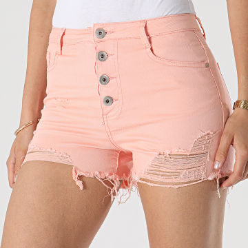 Girls Outfit - Short Jean Femme C9063 Saumon