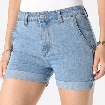 Girls Outfit - Short Jean Femme Y6166 Bleu Denim