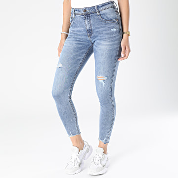 Girls Outfit - Jean Skinny Femme MG-021 Bleu Denim