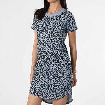 Only - Robe Femme Leopard Ivy Life Bleu Clair Noir