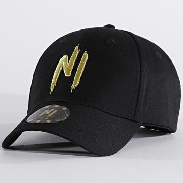 NI by Ninho - Casquette Logo Noir Doré