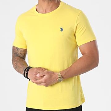 US Polo ASSN - Tee Shirt Double Horse Logo Jaune