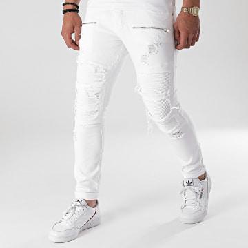 2Y Premium - Jean Slim B6001 Blanc