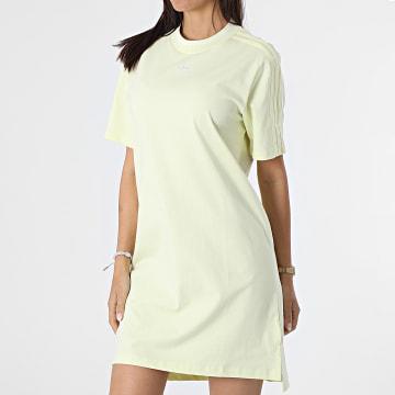 Adidas Originals - Robe Tee Shirt A Bandes Femme H56458 Jaune