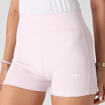 Adidas Originals - Short Jogging Femme A Bandes H56463 Rose