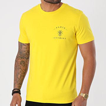 Anthill - Tee Shirt Chest Logo Jaune Noir
