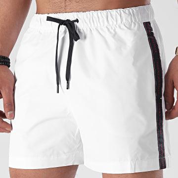 Tommy Hilfiger - Short De Bain A Bandes Medium Drawstring 2063 Blanc