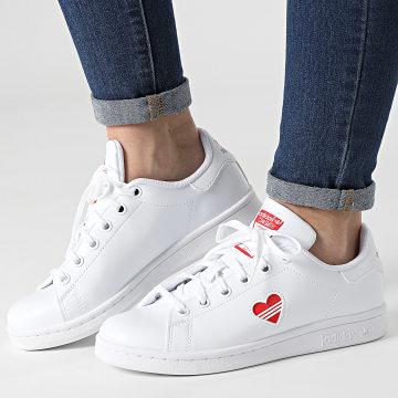 Adidas Originals - Baskets Femme Stan Smith FY4481 Footwear White Vivid Red