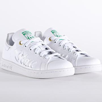 Adidas Originals - Baskets Femme Stan Smith FY5464 Cloud White Green