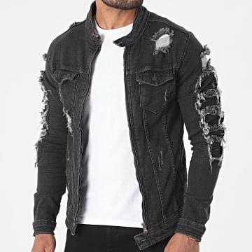 Black Industry - Veste Jean 5721 Noir