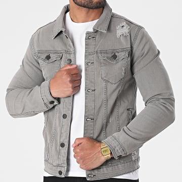 Black Industry - Veste Jean 5316 Gris