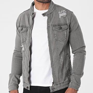 Black Industry - Veste Jean 5315 Gris