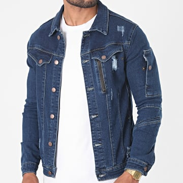 Black Industry - Veste Jean 3920 Bleu Denim