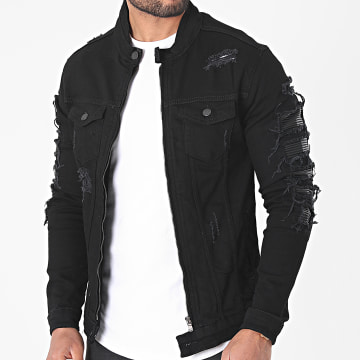 Black Industry - Veste Jean 5921 Noir