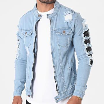 Black Industry - Veste Jean 3921 Bleu Denim