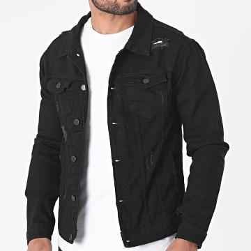 Black Industry - Veste Jean 5916 Noir
