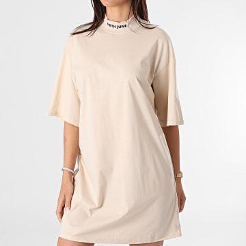 Sixth June - Robe Tee Shirt Femme W32913VTS Beige