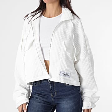 Sixth June - Veste Zippée Crop Femme W32928VJA Blanc