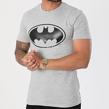 DC Comics - Tee Shirt Logo Gris Chiné Noir