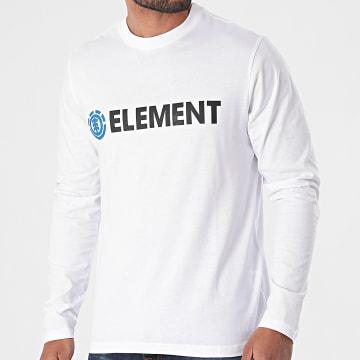 Element - Tee Shirt Manches Longues Blazin Blanc