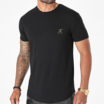 Final Club - Tee Shirt Oversize Premium Avec Broderie 605 Noir Doré