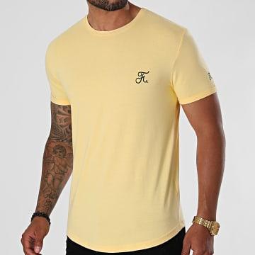 Final Club - Tee Shirt Oversize Premium Avec Broderie 607 Jaune Pastel