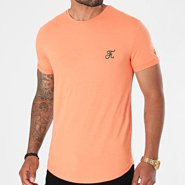 Final Club - Tee Shirt Oversize Premium Avec Broderie 608 Orange Pastel