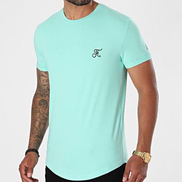 Final Club - Tee Shirt Oversize Premium Avec Broderie 609 Bleu Pastel
