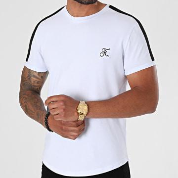 Final Club - Tee Shirt Oversize Premium A Bande 610 Blanc