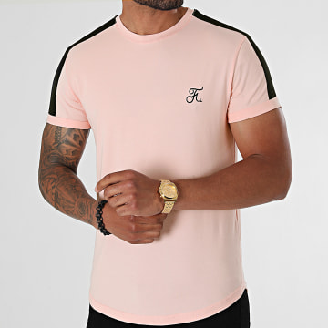 Final Club - Tee Shirt Oversize Premium A Bande 614 Rose Pastel