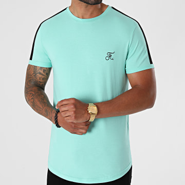 Final Club - Tee Shirt Oversize Premium A Bande 617 Bleu Pastel