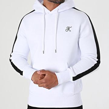 Final Club - Sweat Capuche Premium Avec Bande 626 Blanc