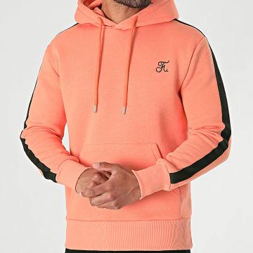 Final Club - Sweat Capuche Premium A Bande 632 Orange Pastel