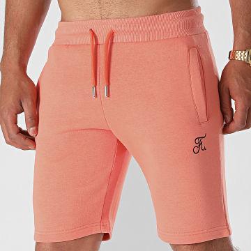 Final Club - Short Jogging Premium Avec Broderie 640 Orange Pastel